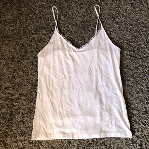 Women's Any Day Ribbed Lace Cami - A New Day XL